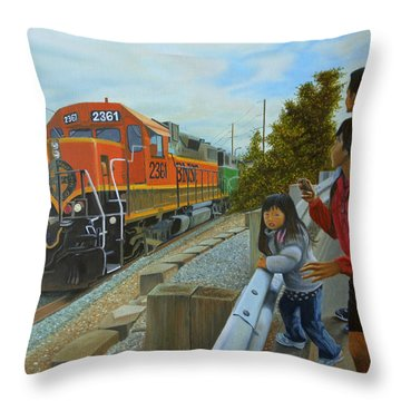 Burlington Northern Santa Fe Throw Pillow