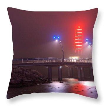 Burlington Pier Throw Pillow by JR Calcutt