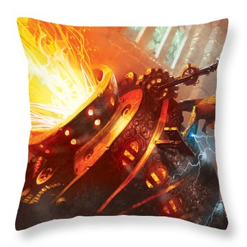 Burn Throw Pillow by Ryan Barger