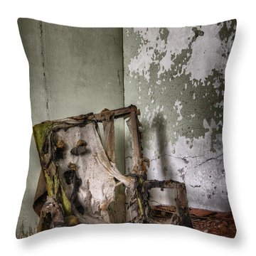 Burned Throw Pillow by Margie Hurwich
