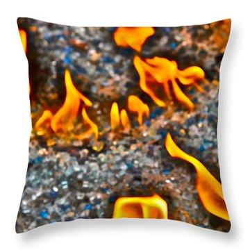 Burning Bright Throw Pillow