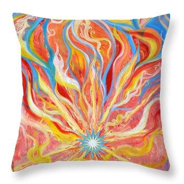 Burning Bush Throw Pillow by Anne Cameron Cutri
