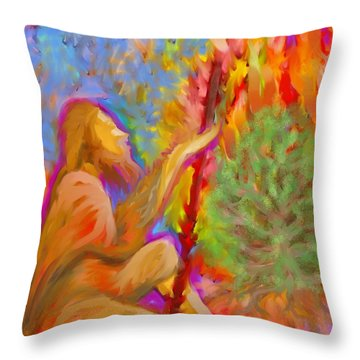 Burning Bush Of Yhwh Throw Pillow