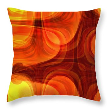 Throw Pillow featuring the photograph Burning Cross by Martina  Rathgens