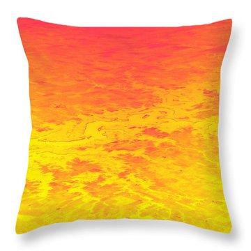 Burning Throw Pillow by Deborah  Crew-Johnson
