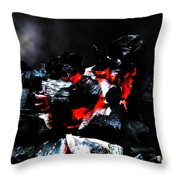 Throw Pillow featuring the photograph Burning Hell by Marc Philippe Joly