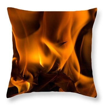 Burning Holly Throw Pillow