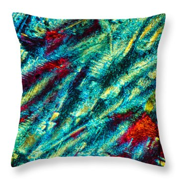 Burning Ice Throw Pillow by Tom Phillips