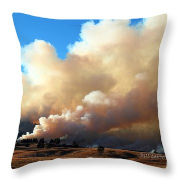 Burning In The Black Hills Throw Pillow