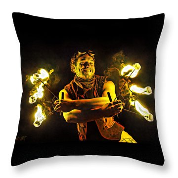 Burning Passion Throw Pillow