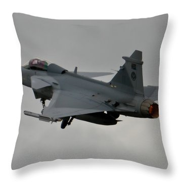 Burning Throw Pillow by Paul Job