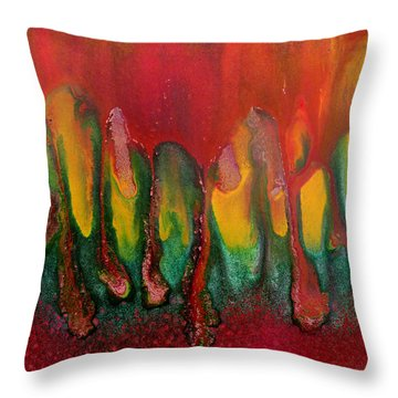 Burning Sensation Abstract Throw Pillow by Julia Apostolova