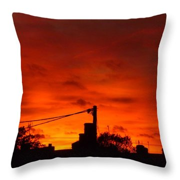 Burning Sky Throw Pillow by Vicki Spindler