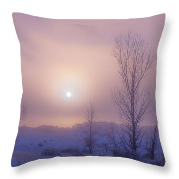 Burning Through Throw Pillow by Darren  White