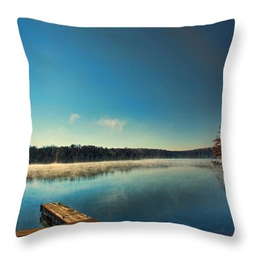 Burning Water Throw Pillow