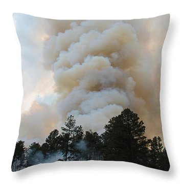 Burnout Near Song Dog Road Throw Pillow
