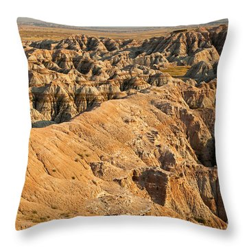 Burns Basin Overlook Badlands National Park Throw Pillow