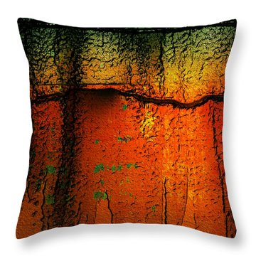 Burnt Caramel Throw Pillow