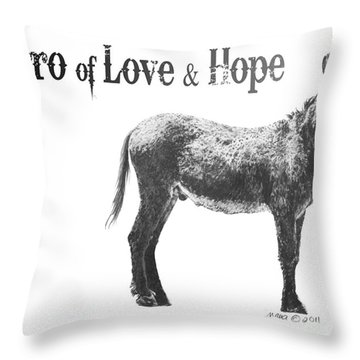 Burro Of Love And Hope Throw Pillow
