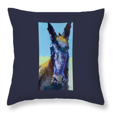 Burro Stare Throw Pillow