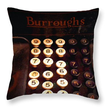 Burroughs Throw Pillow by Timothy Bulone