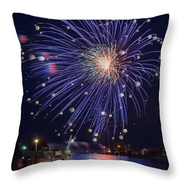 Burst Of Blue Throw Pillow