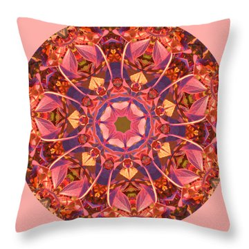 Burst Of Fall Mandala Throw Pillow