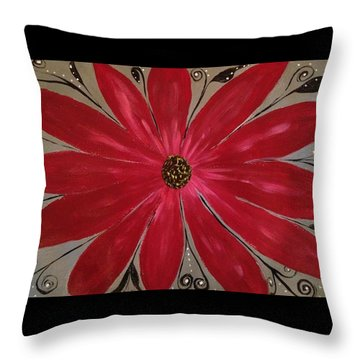 Bursting Out Throw Pillow by Sherry Flaker
