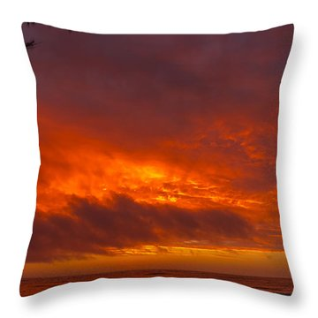 Bursting Sky Throw Pillow