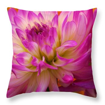 Throw Pillow featuring the photograph Bursting With Color by John S
