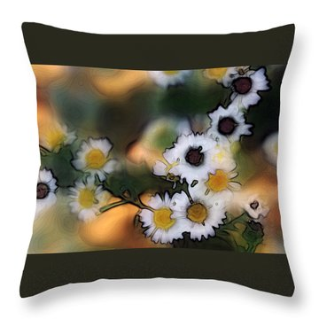 Throw Pillow featuring the photograph Bursting With Happiness by Ellen Tully