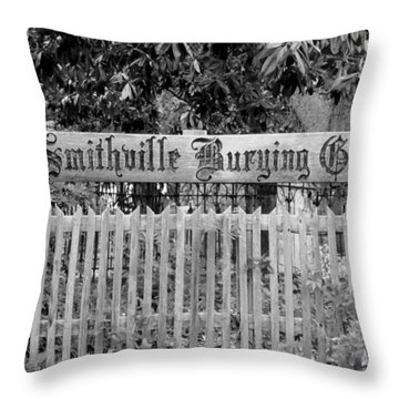 Burying Ground Throw Pillow by Cynthia Guinn