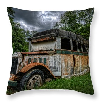 Bus Decay 16 By 9  Throw Pillow