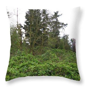 Bus Stop Greenbelt Throw Pillow