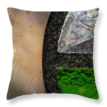Throw Pillow featuring the photograph Bus Stop One by Glenn DiPaola