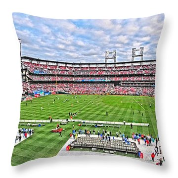 Busch Hosts Chelsea Versus Manchester City Throw Pillow