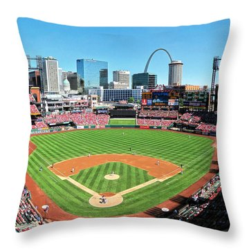 Busch Stadium Sep 29 2013 2 Throw Pillow