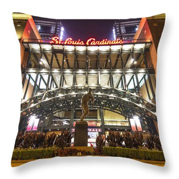 Busch Stadium St. Louis Cardinalsstan Musial Throw Pillow