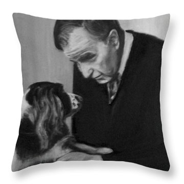 Bush And Millie Throw Pillow