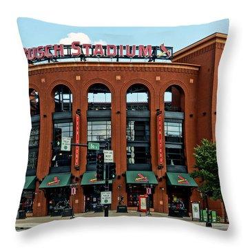Busch Stadium Home Of The St Louis Cardinals Throw Pillow