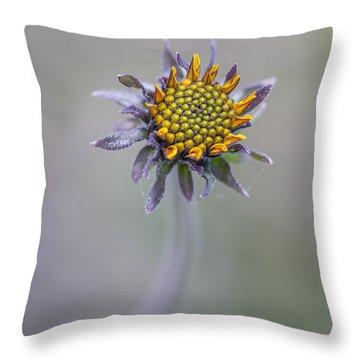 Bush Sunflower Opening Throw Pillow