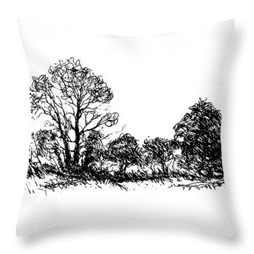 Bushes Throw Pillow
