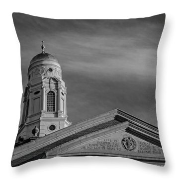 Bushnell Memorial Inscription Throw Pillow