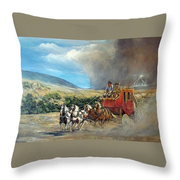 Business As Usual Throw Pillow by Donna Tucker