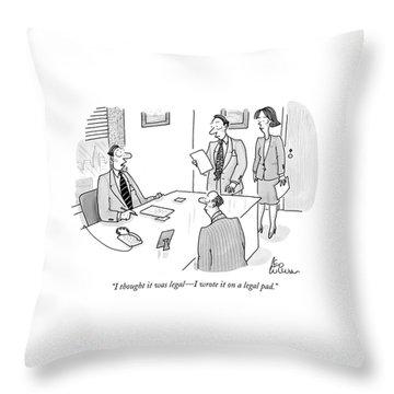 Businessman To Associates Throw Pillow