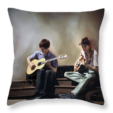 Buskers Throw Pillow