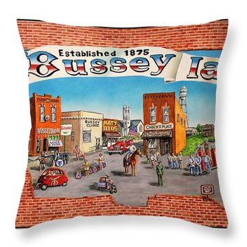 Bussey Mural Throw Pillow by Todd Spaur
