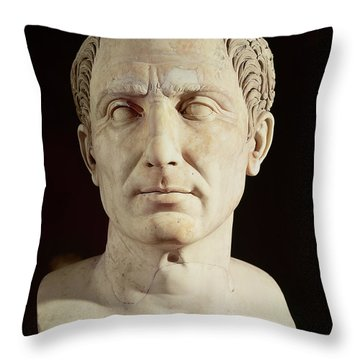Bust Of Julius Caesar Throw Pillow by Anonymous