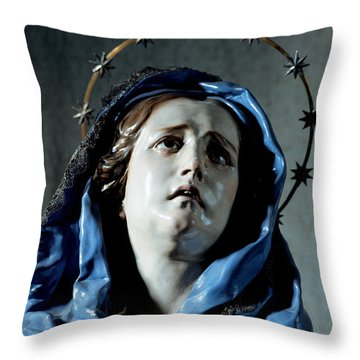 Bust Of Painful Virgin Throw Pillow