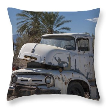 Busted B600 Truck Throw Pillow
